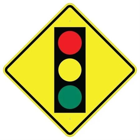 TRAFFIC LIGHT AHEAD, Sign