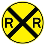 "RAILROAD CROSSING Sign - 30"" or 36"" Inch Diameter, Available in Engineer Grade Prismatic Reflective or Type III Prismatic High Intensity Reflective"