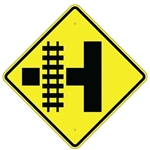 Parallel Railroad Crossing Side Road Sign - 30 X 30 Diamond Shape - Type I Engineer Grade Prismatic Reflective or Type III Prismatic High Intensity Reflective