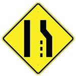 "RIGHT LANE ENDS SYMBOL Traffic Sign - 24"" X 24"", 30"" X 30"" or 36"" X 36"" Engineer Grade, High Intensity or Diamond Grade Reflective Aluminum."