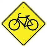 "BICYCLE Crossing Symbol Sign - Choose 24"" X 24"", 30"" X 30"" or 36"" X 36"" Engineer Grade, High Intensity or Diamond Grade Reflective Aluminum."