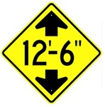 "LOW OVERHEAD CLEARANCE ROAD Sign- Choose 24"" X 24"", 30"" X 30"" or 36"" X 36"" Engineer Grade, High Intensity or Diamond Grade Reflective Aluminum."