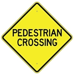 "PEDESTRIAN CROSSING Sign - 24"" X 24"", 30"" X 30"" or 36"" X 36"" Engineer Grade, High Intensity or Diamond Grade Reflective Aluminum."