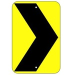 CHEVRON ARROW Traffic Sign - 12 X 18 or 18 X 24, Choose from Type I Engineer Grade Prismatic Reflective or Type III Prismatic High Intensity Reflective