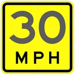 ADVISORY SPEED LIMIT (MPH) Sign - 18 X 18 - Choose from Type I Engineer Grade Prismatic Reflective or Type III Prismatic High Intensity Reflective