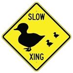 "DUCK CROSSING SYMBOL Sign - 24"" X 24"", 30"" X 30"" or 36"" X 36"" Engineer Grade, High Intensity or Diamond Grade Reflective Aluminum"