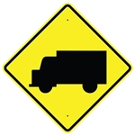 "TRUCK SYMBOL SIGN - 24"" X 24"", 30"" X 30"" or 36"" X 36"" Engineer Grade, High Intensity or Diamond Grade Reflective Aluminum."