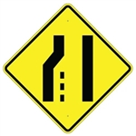 "LEFT LANE ENDS SYMBOL Sign - 24"" X 24"", 30"" X 30"" or 36"" X 36"" Engineer Grade, High Intensity or Diamond Grade Reflective Aluminum."