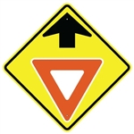 "YIELD AHEAD SYMBOL SIGN - 24"" X 24"", 30"" X 30"" or 36"" X 36"" Engineer Grade, High Intensity or Diamond Grade Reflective Aluminum."