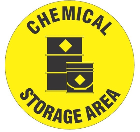 Anti Slip Chemical Storage Area Safety Floor Sign