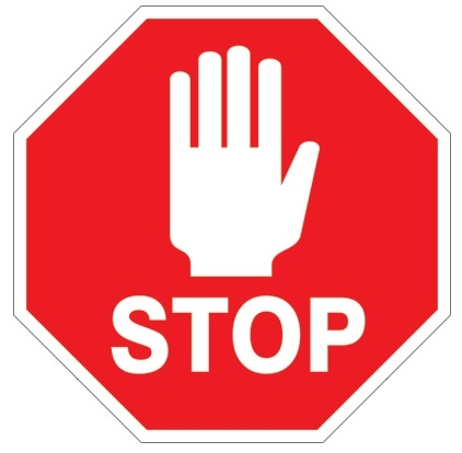 Anti Slip, STOP Floor Sign (With Graphic)