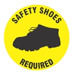 Non-Slip SAFETY SHOES REQUIRED, 17 inch diameter, Walk on floor decal