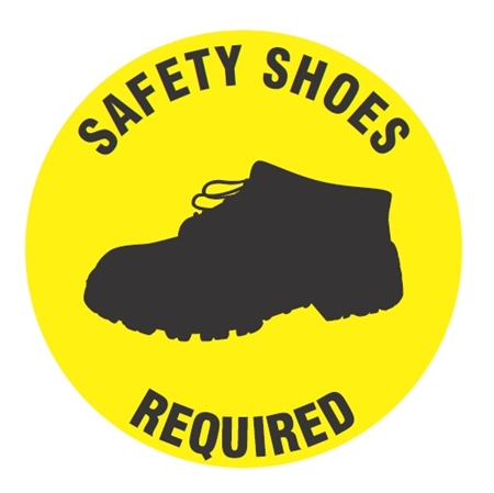 Safety Shoes Required Safety Floor Sign