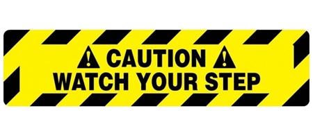 Anti-Slip CAUTION WATCH YOUR STEP, Stair Marker